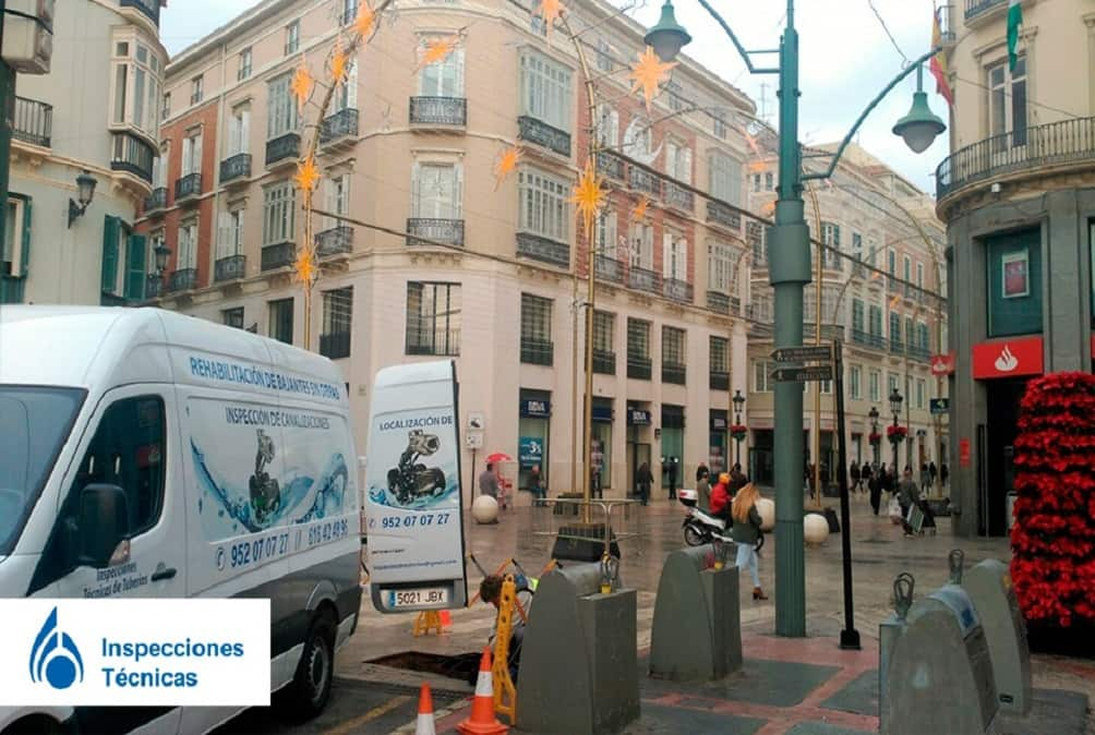 Inspección técnica de tuberías calle Larios